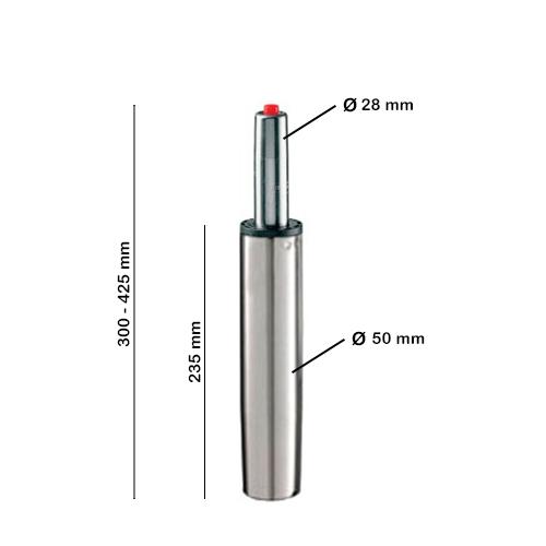 piston normal cromado con medidas