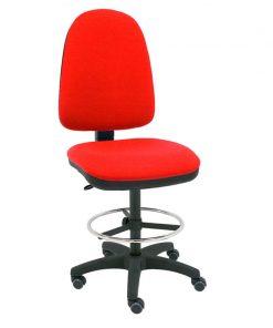 taburete-giratorio-torino-base-negra-ruedas-goma-rojo